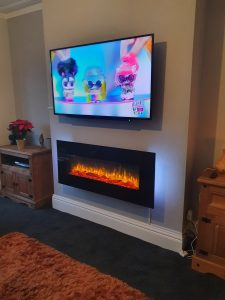 55 inch tv mounted and fire